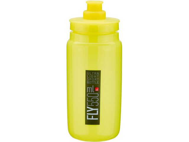 Elite Fly Trinkflasche 550ml yellow/black logo